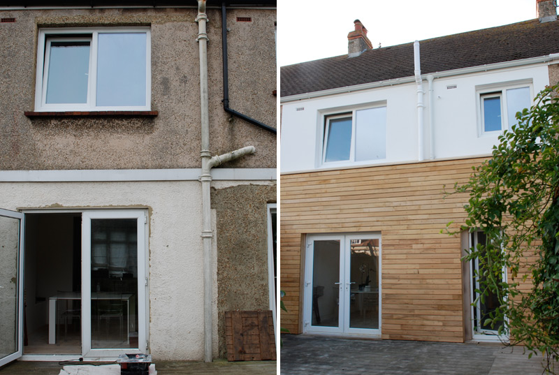Wooden Cladding Before And After ~ Eco friendly refurbishment